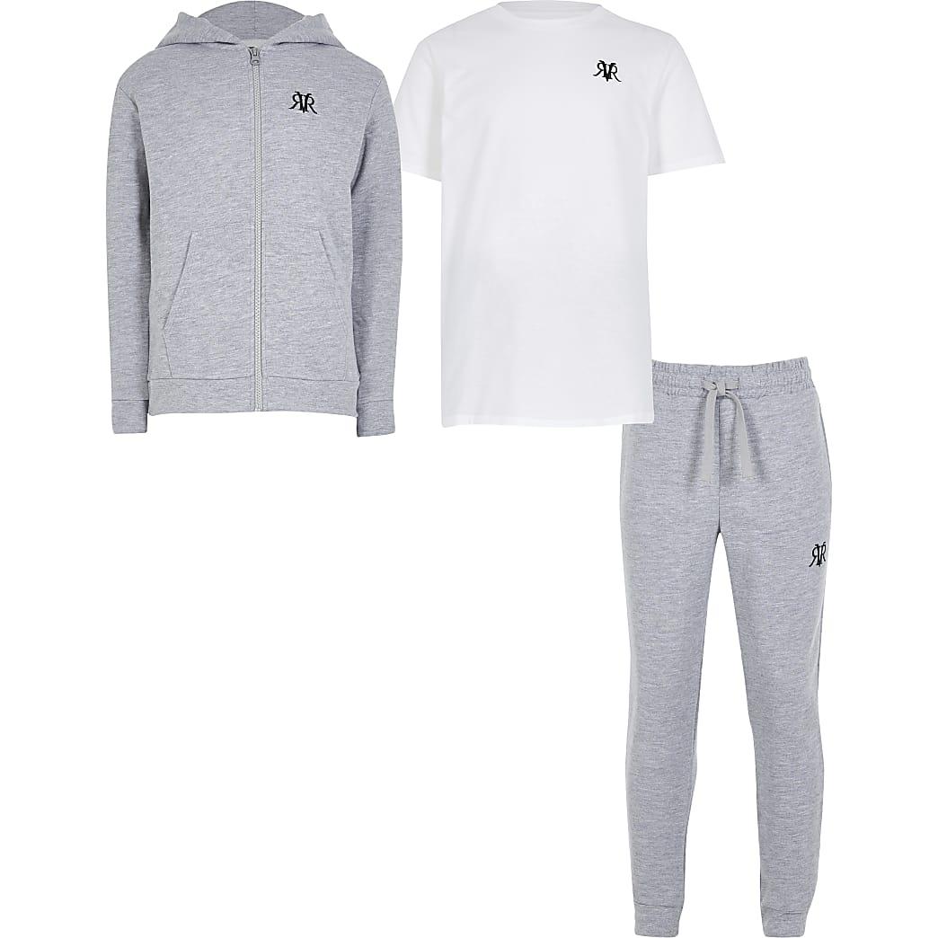 Boys grey hoody 3 piece set