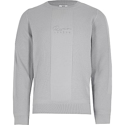 Boys grey knitted jumper