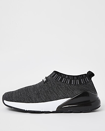 Boys grey low sock runner trainers