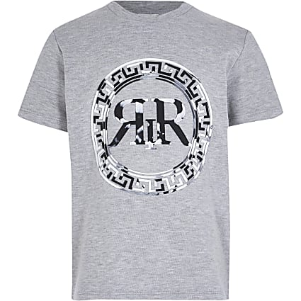 boys grey marble print t-shirt