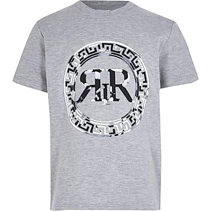 boys grey marble print t-shirt