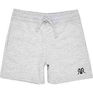 Grijze gemêleerde RVR shorts voor jongens