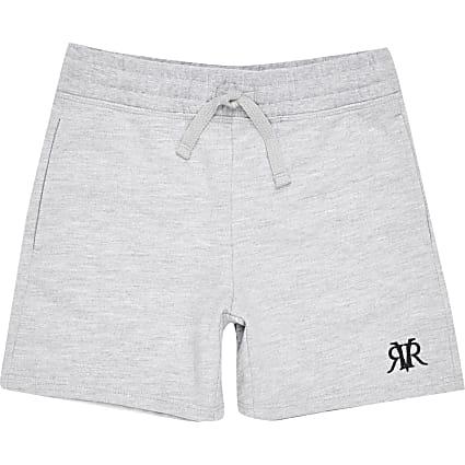 Boys grey marl RVR shorts