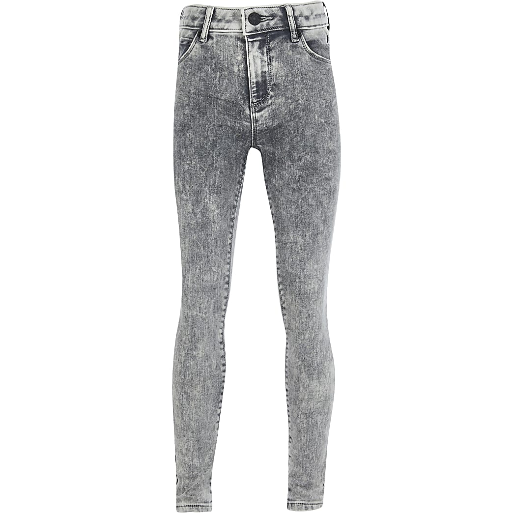 Boys grey Ollie skinny fit jeans