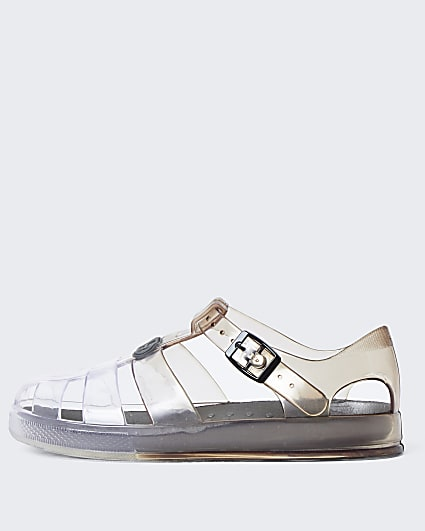 Boys grey ombre  jelly caged sandals