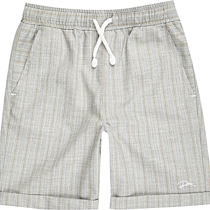 Boys grey pinstripe shorts