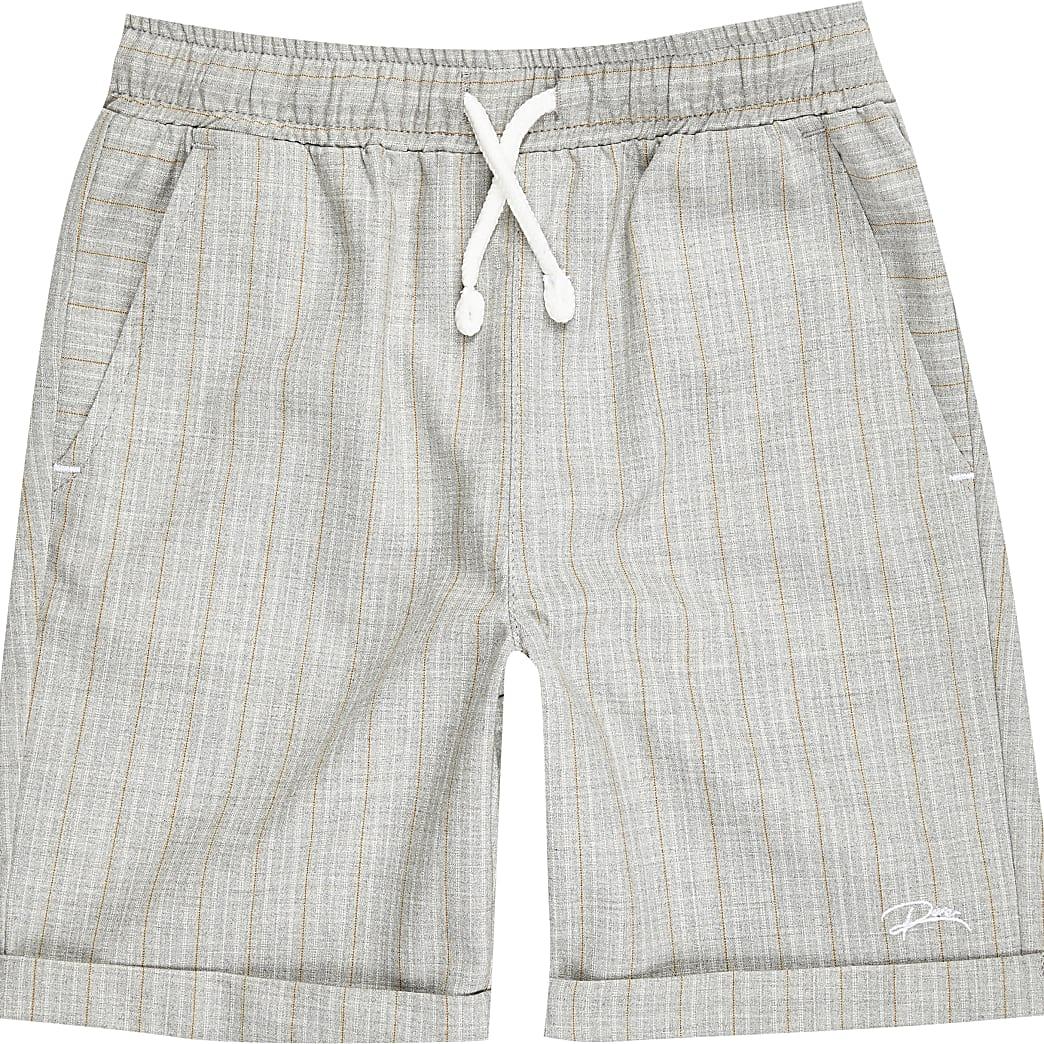 Boys grey pinstripe shorts