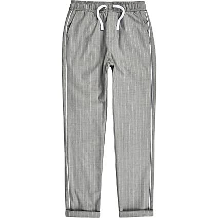 Boys grey pinstripe trousers