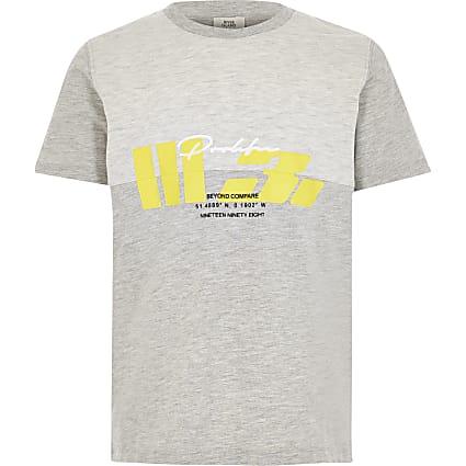 Boys grey Prolific printed T-shirt