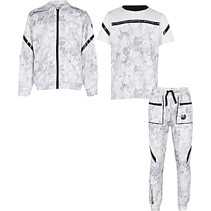Boys grey RI Active 3 piece outfit
