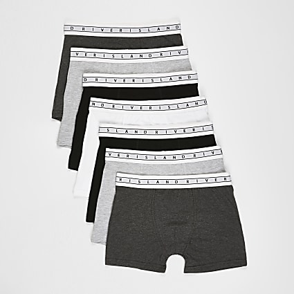 Boys grey RI boxer shorts