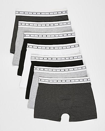 Boys grey RI boxer shorts