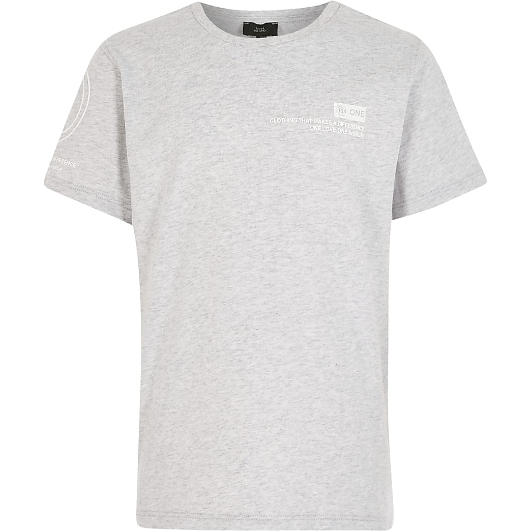 Boys grey RI one t-shirt