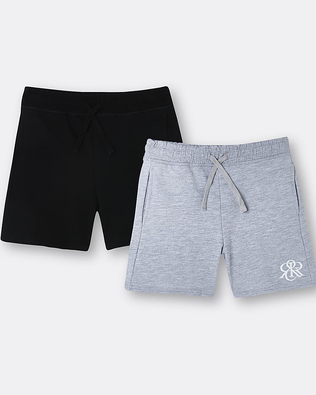 Boys grey RIR shorts 2 pack