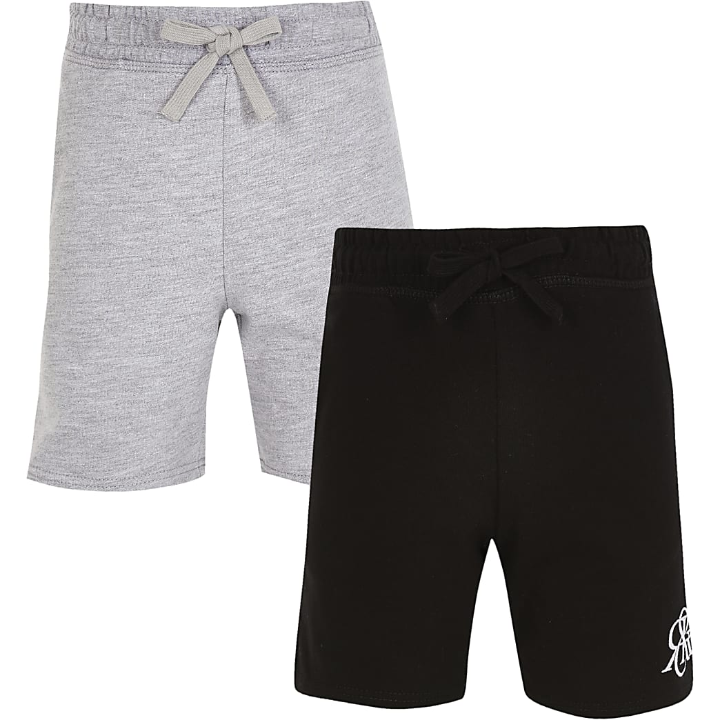 Boys grey RIR shorts 2 pack