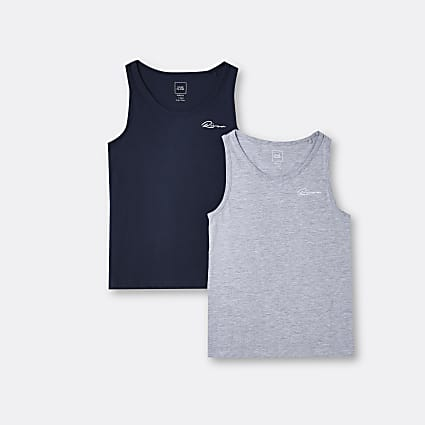 Boys grey River vests 2 pack