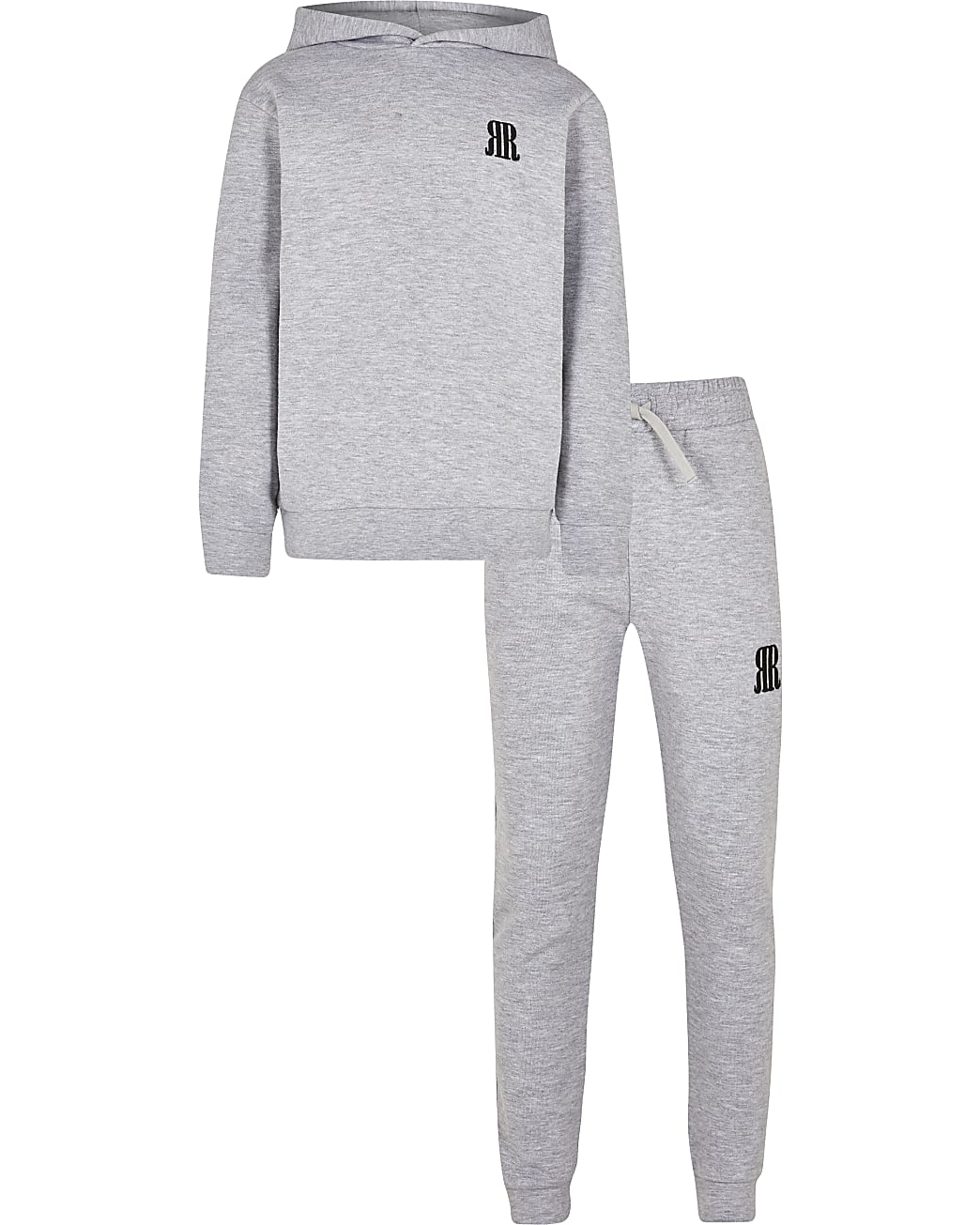Boys grey RR hoodie and jogger outfit