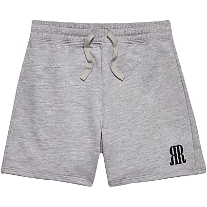 Boys grey RR logo shorts