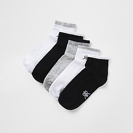 Boys grey RVR socks 5 pack