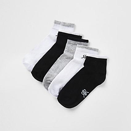 Boys grey RVR socks 5 pack