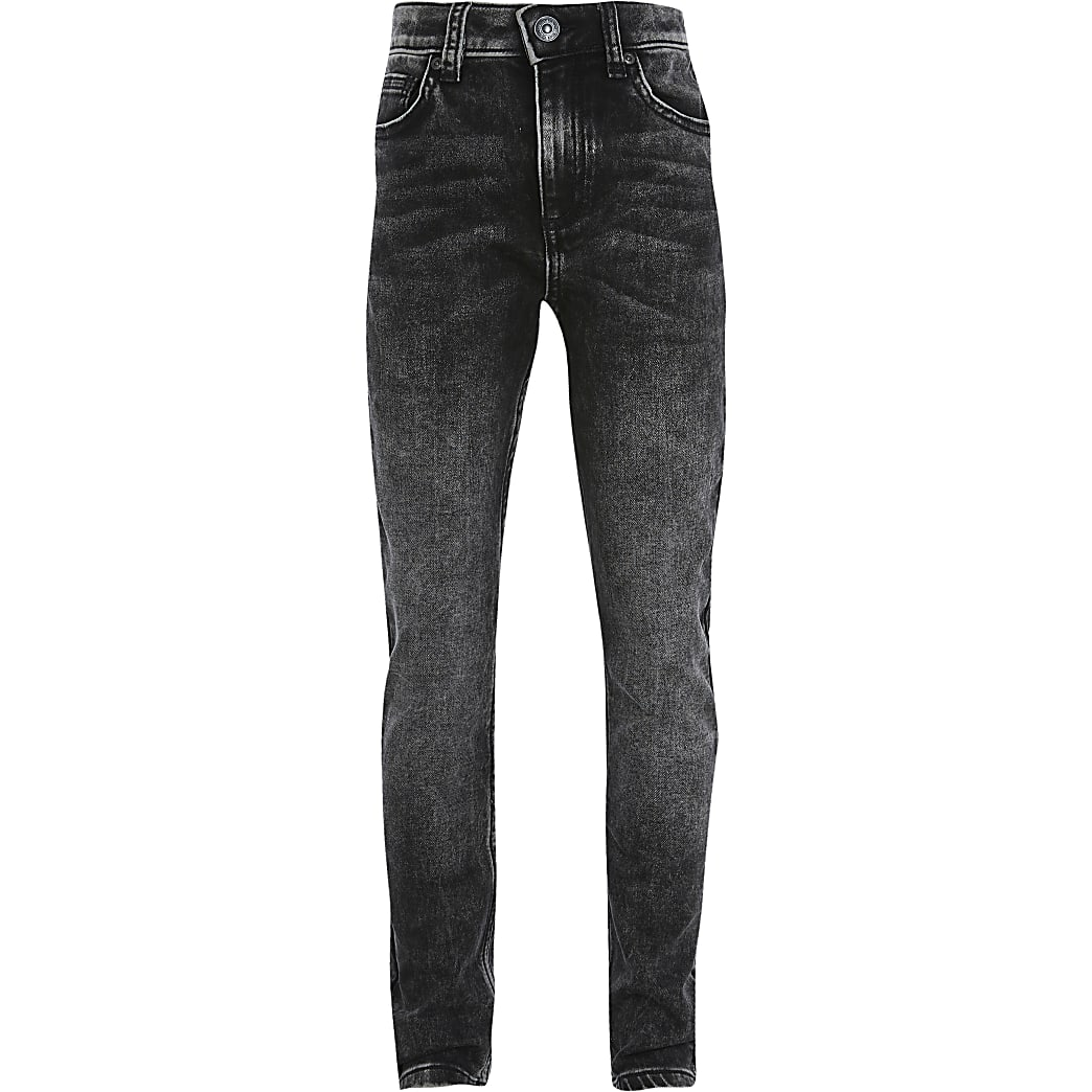 Boys grey Sid acid skinny fit jeans