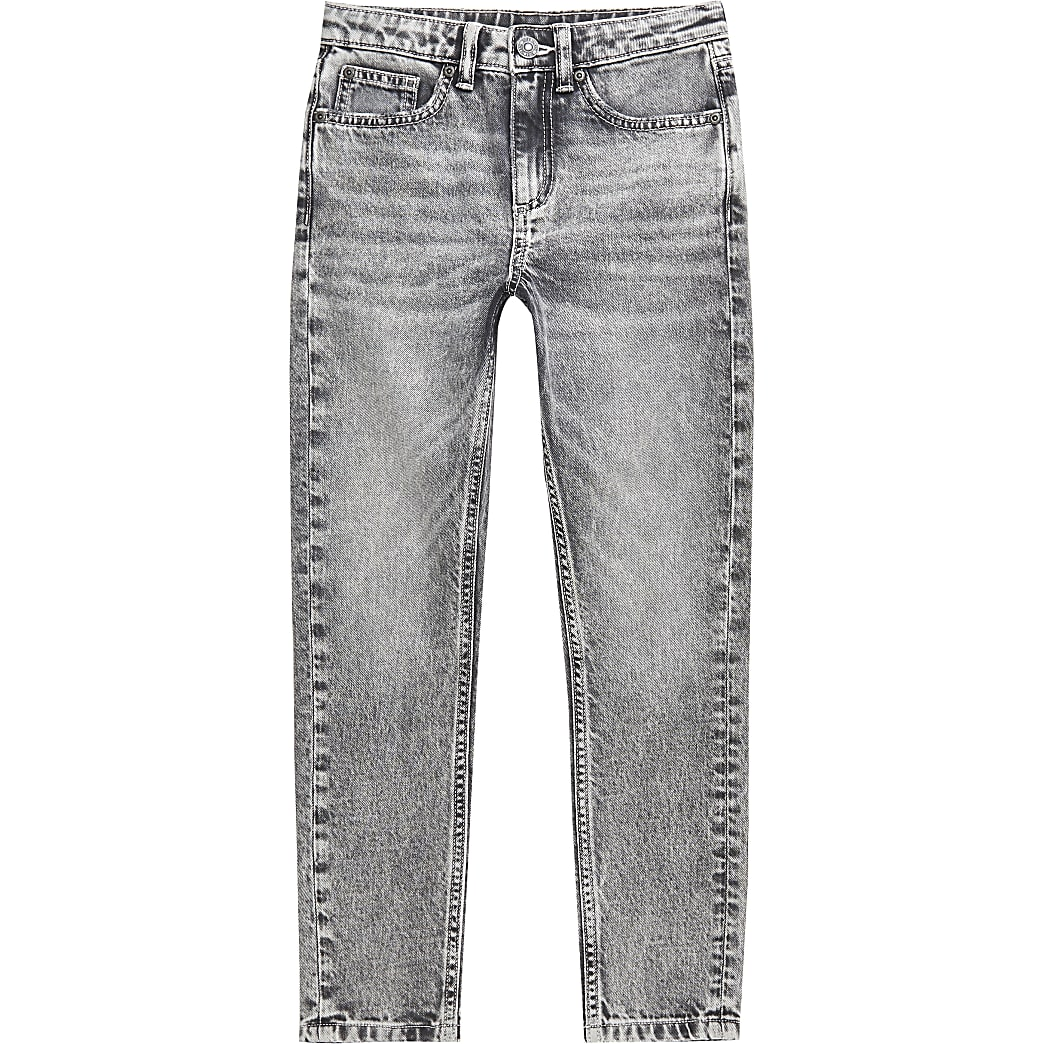 Boys grey skinny fit jeans