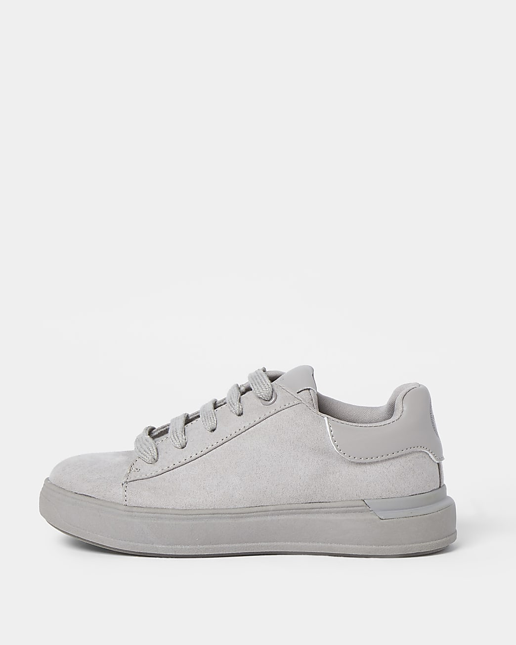 Boys grey suedette trainers