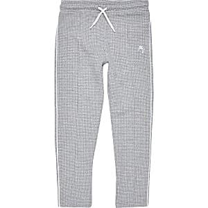 Boys grey textured joggers