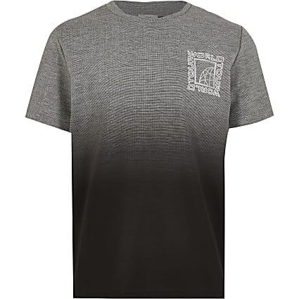 Boys grey textured ombre t-shirt