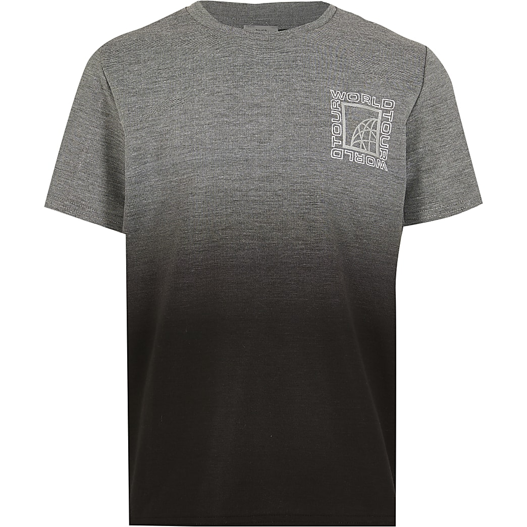 Boys grey textured ombre t-shirt