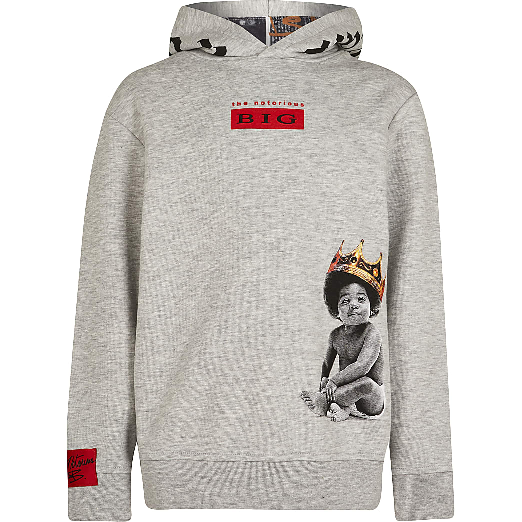 Boys grey 'The notorious B.I.G' hoodie