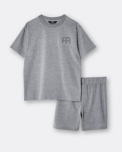 Boys grey tiger stripe pyjama set