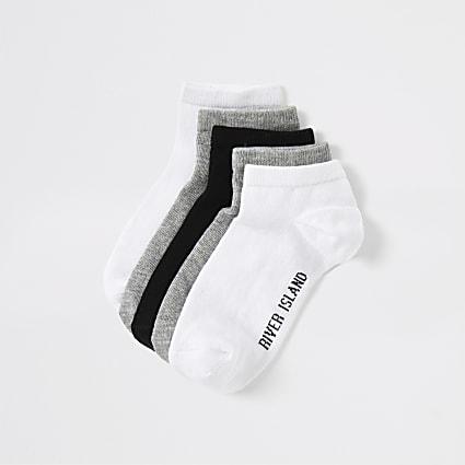 Boys grey trainer socks multipack