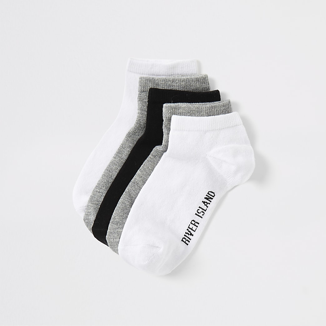 Boys grey trainer socks multipack