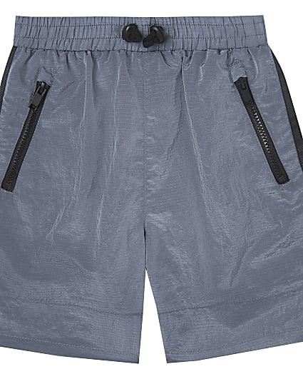 Boys grey two tone tech shorts