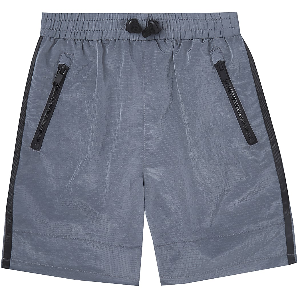 Boys grey two tone tech shorts