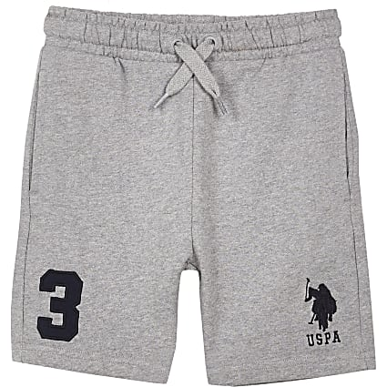 Boys grey USPA jogger shorts