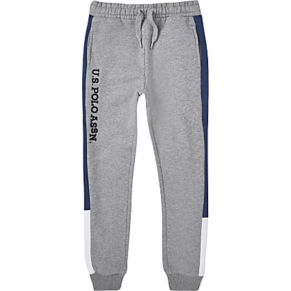 Boys grey USPA joggers