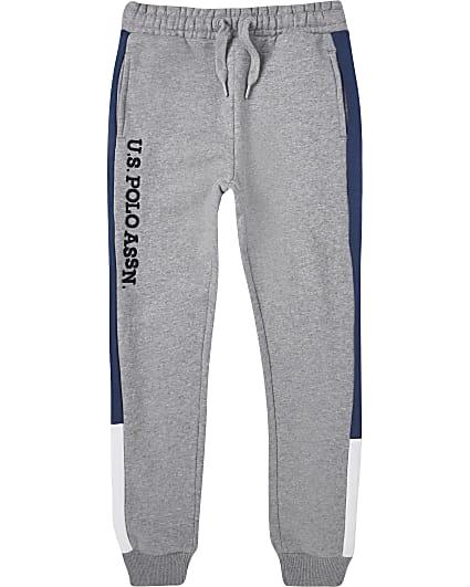 Boys grey USPA joggers