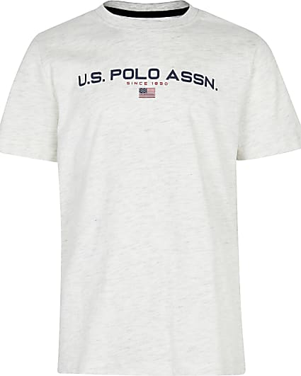 Boys grey USPA short sleeve t-shirt