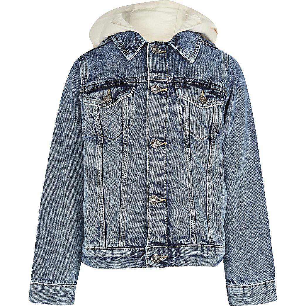 Boys hooded denim jacket