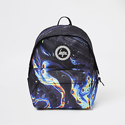 Boys Hype black marble backpack