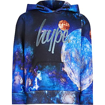 Boys Hype black space print hoodie