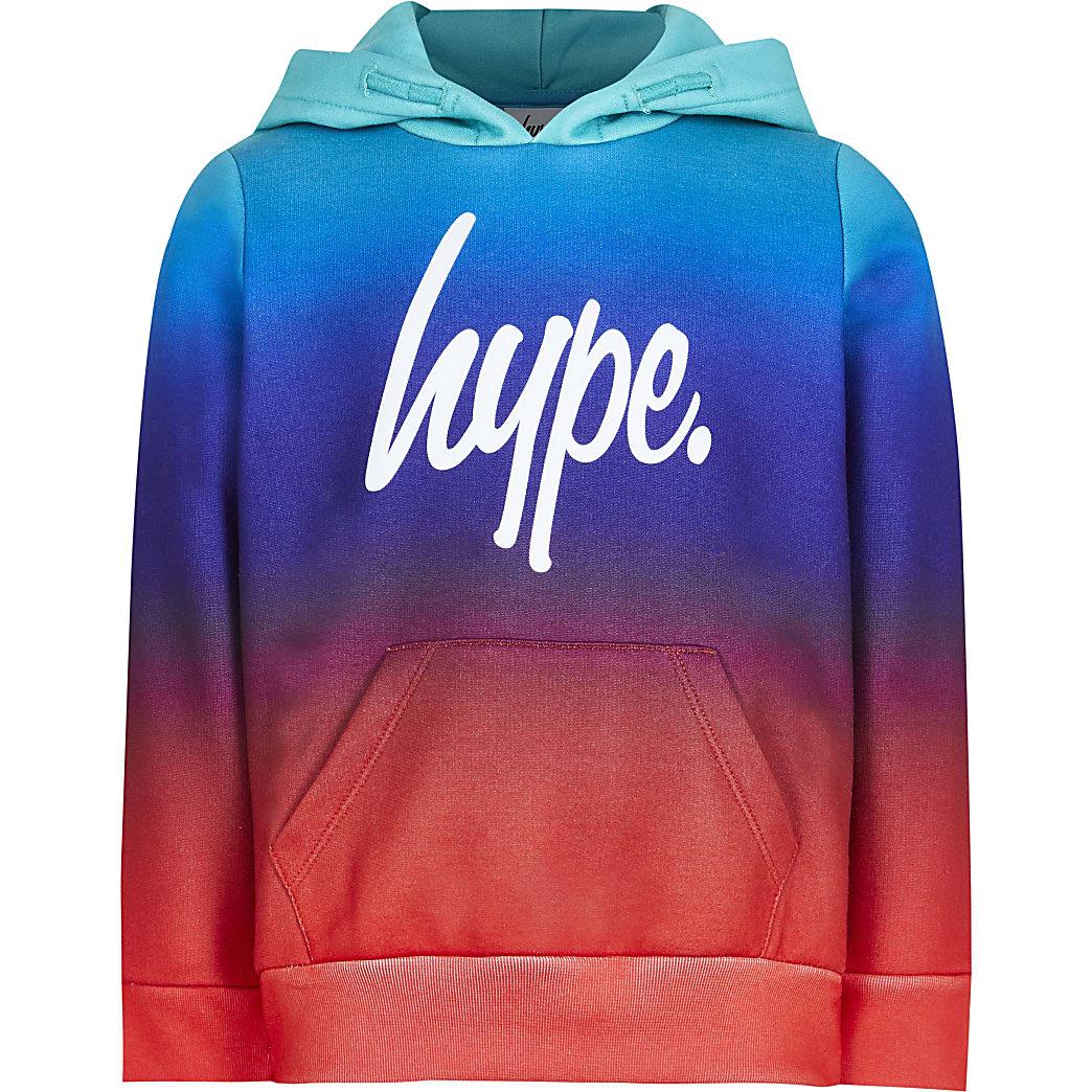 Boys Hype blue fade hoodie