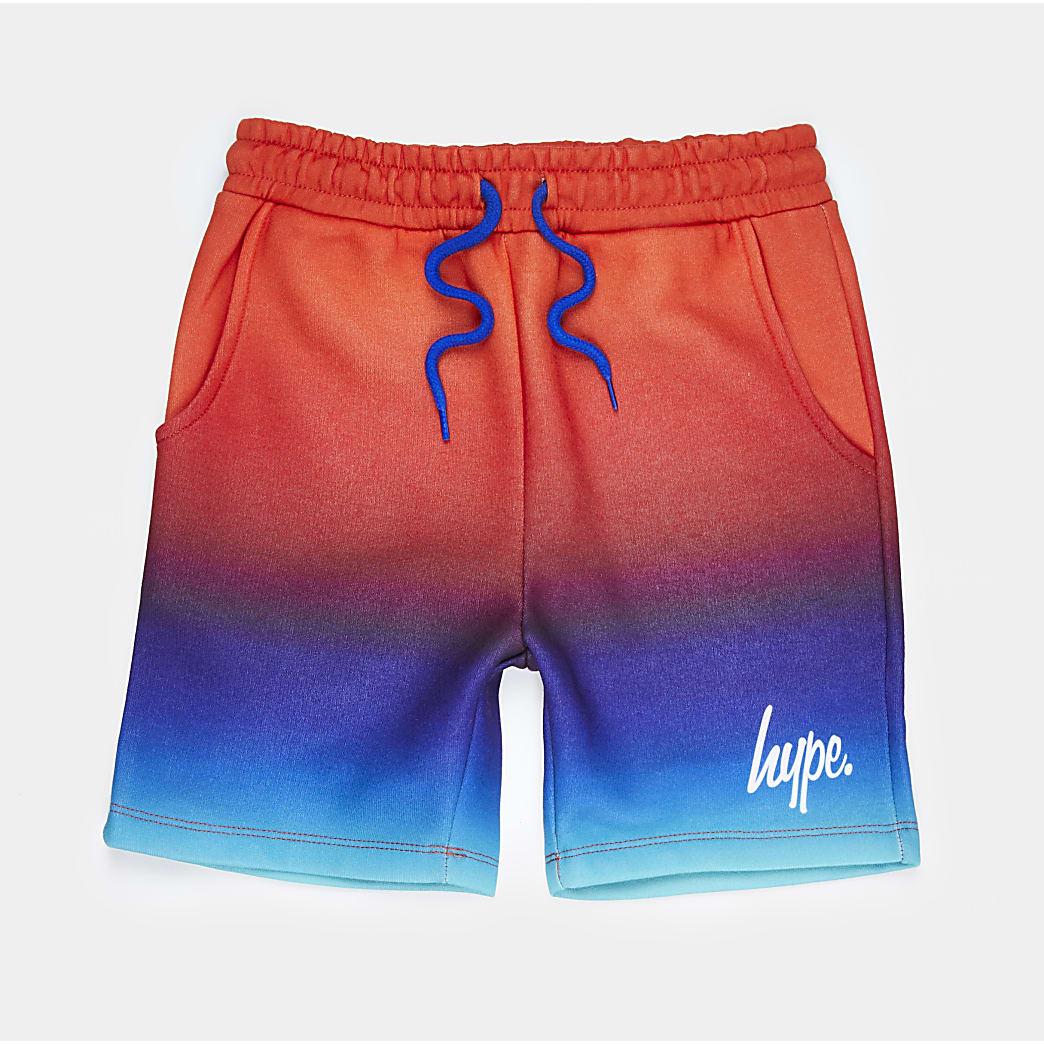 Boys Hype blue ombre shorts