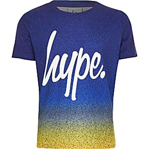 Hype – Blaues T-Shirt mit Print für Jungen