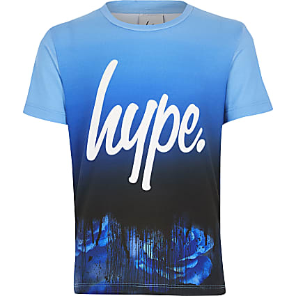 Boys Hype blue printed T-shirt