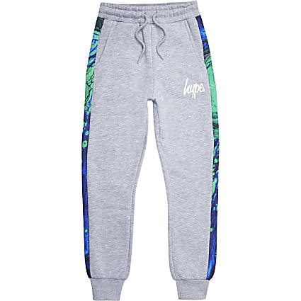 Boys Hype grey joggers