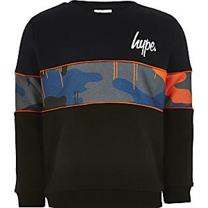 Hype– Marineblaues Panel-Sweatshirt für Jungen