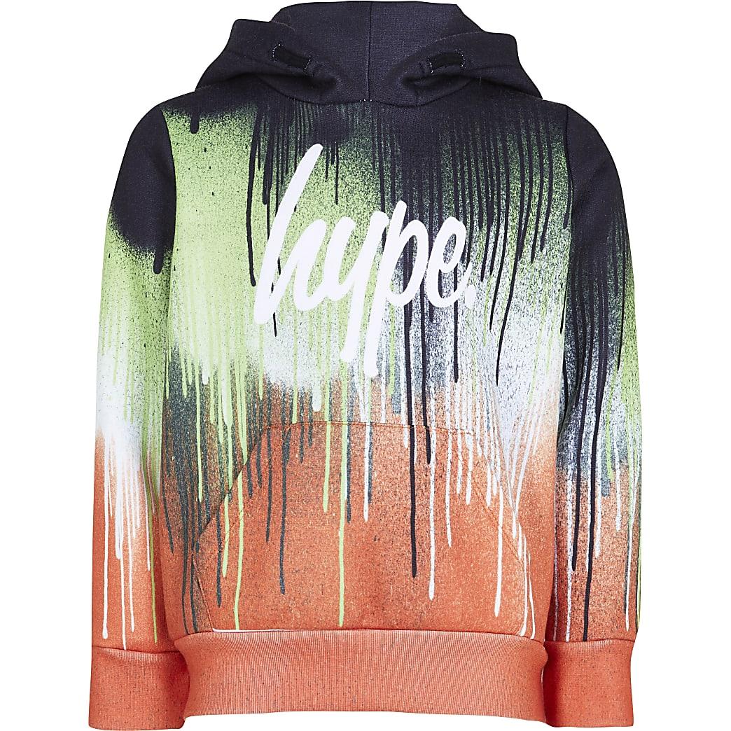 Boys Hype orange slime drip hoodie